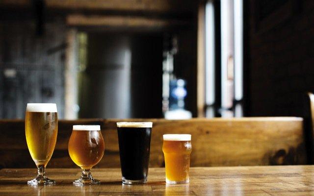Beer flight at Indeed Brewing in Minneapolis, Minnesota.