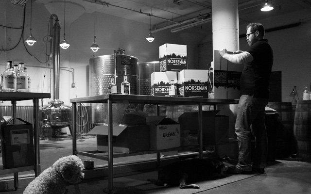 Scott Ervin making Norseman Gin