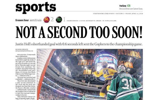 Star Tribune sports page