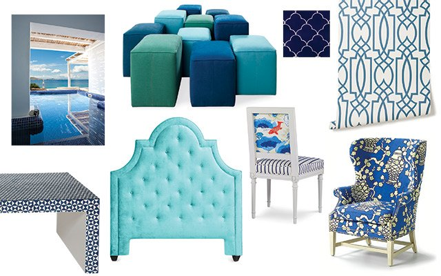 Blue Home Goods Mood Board