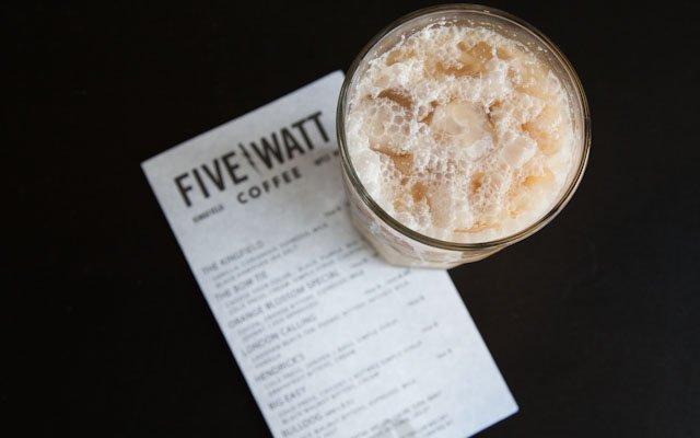 Coffee drink from Five Watt Coffee