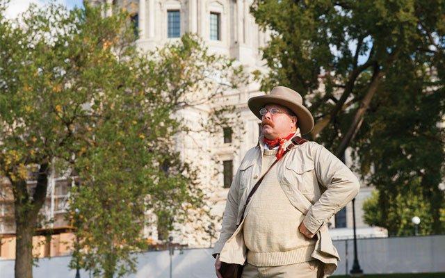 Adam Lindquist, Teddy Roosevelt impersonator