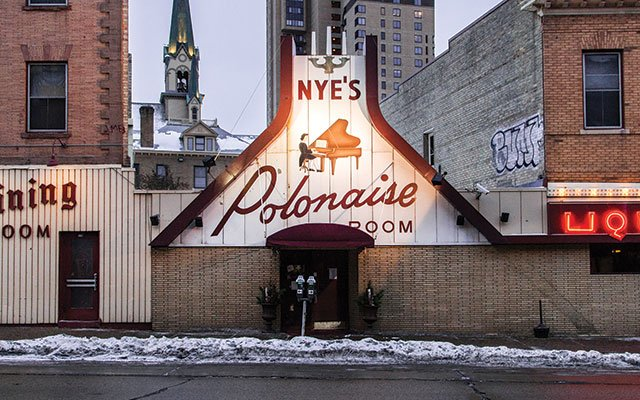 Exterior of Nye's Polonaise Room in Northeast Minneapolis