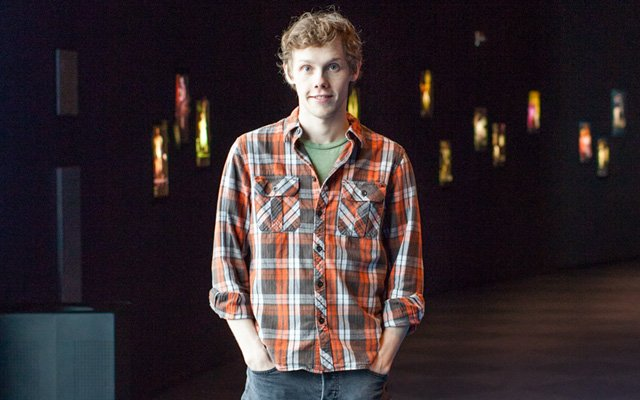 Tyler Michaels in the Guthrie Theatre in Minneapolis, Minnesota.