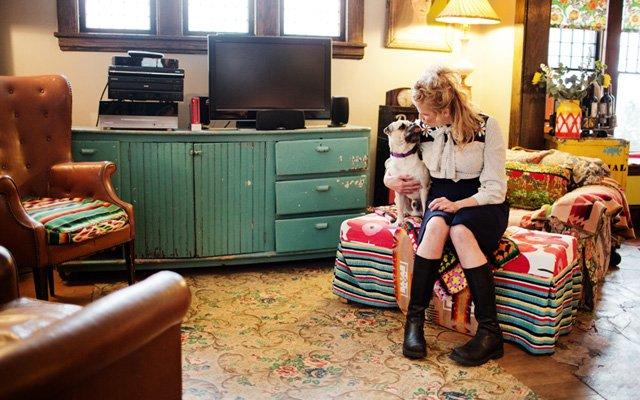Kristi Berkvam Stratton in her home