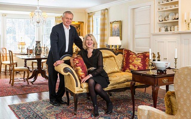Robert Riesberg & Christine Hartman in their home