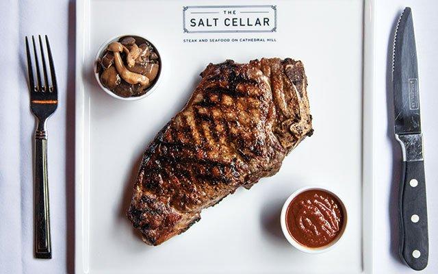 Kansas City strip steak at The Salt Cellar in St. Paul