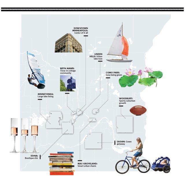 Map of neighborhoods in Minneapolis/St.Paul