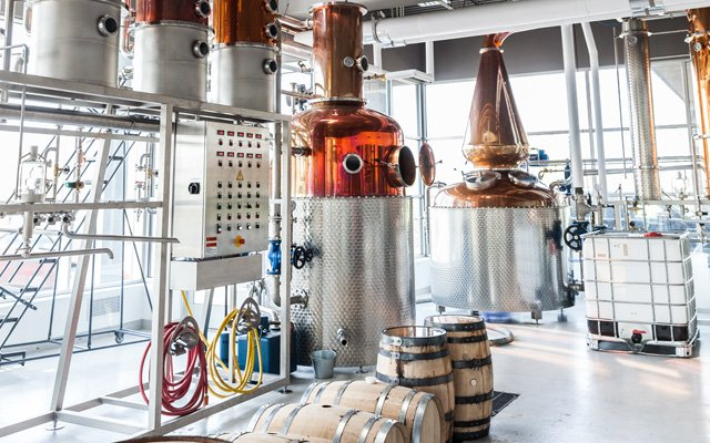 Interior of J. Carver Distillery