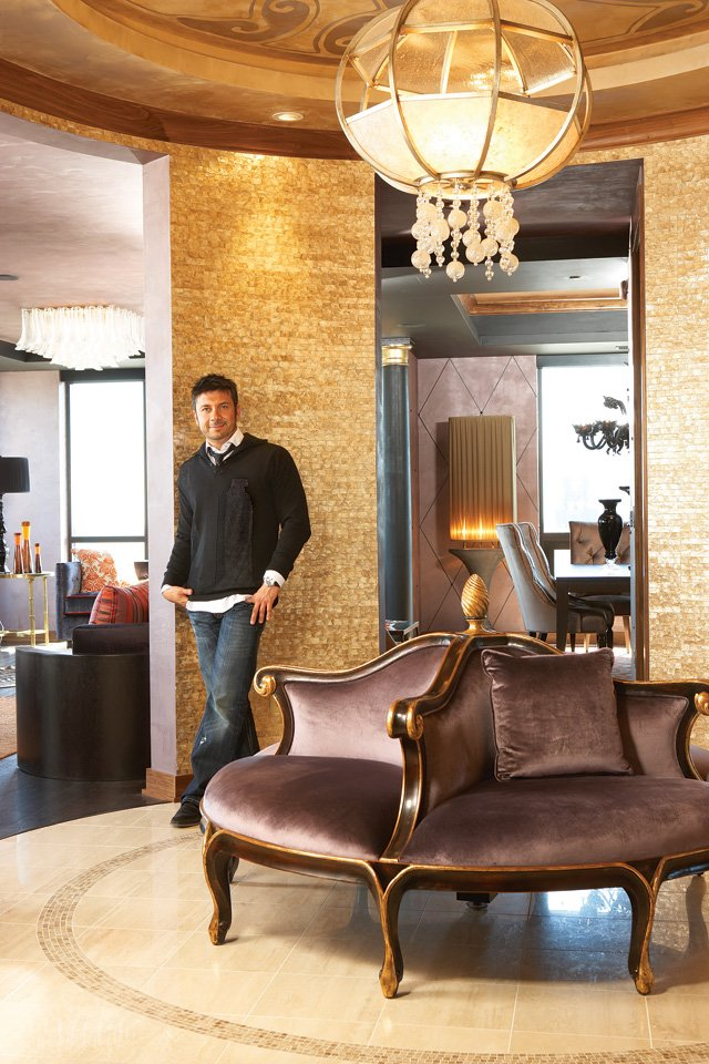 Crave co-owner Kevayn Talebi in his Carlyle condo in 2008