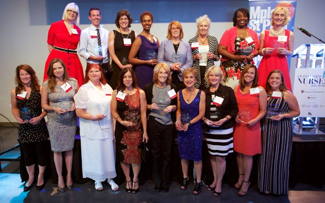 Outstanding Nurses Award winners at the gala presentation