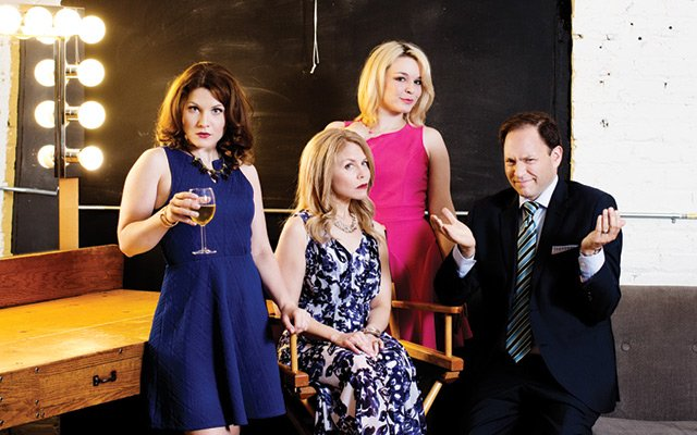 Cast members of the Realish Housewives of Edina from left to right: Quinn Shadko as Claudia-Louise,