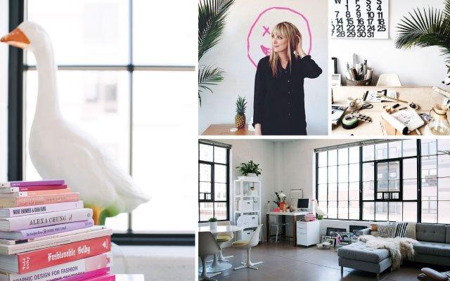 Liz Gardner's home that doubles as her studio/office.