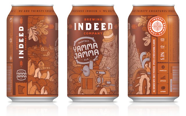 Three cans of Indeed Brewery's Yamma Jamma beer