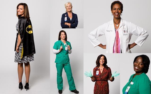 A composite of nurses
