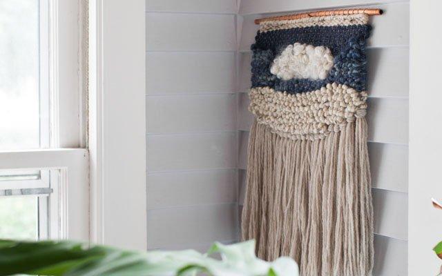 Wall art weavings by Mandi Smethells
