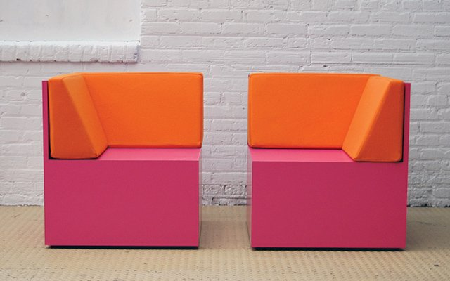 Pink and orange chairs RO/LU