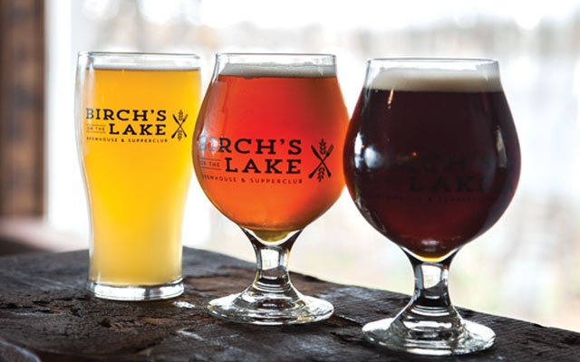 Beer from Birch's on the Lake Brewhouse & Supperclub