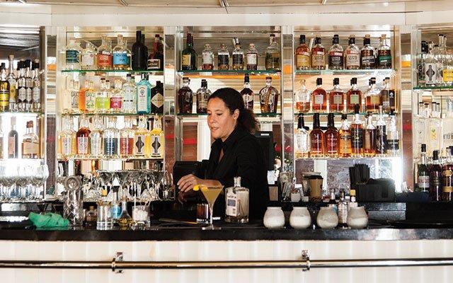 The bar at Commodore