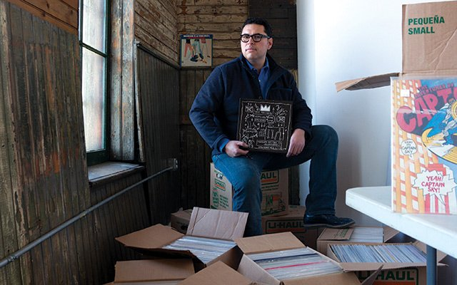 Raoul Benavides and his collection of records