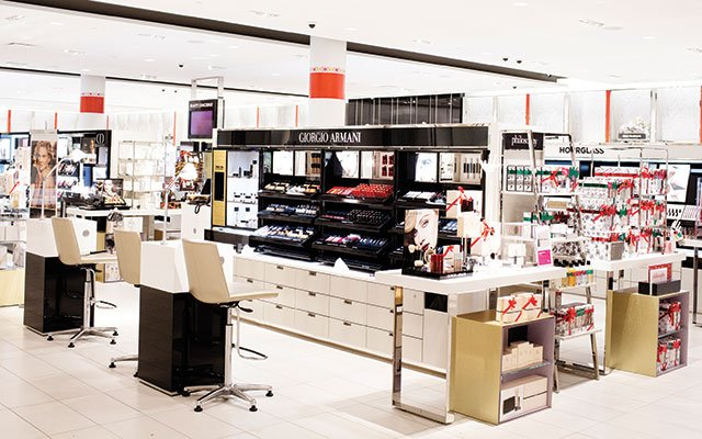 Nordstrom's new cosmetics department