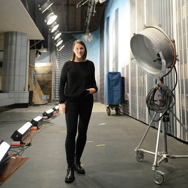 Stillwater native Kiersten Ronning on the set of CBS show 'Supergirl' in L.A.