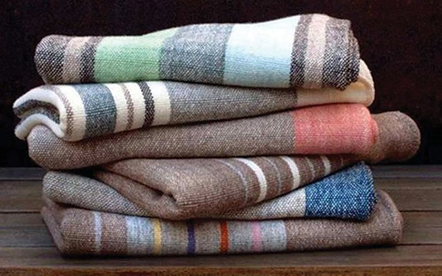 Handwoven blankets by Dianne Nordt