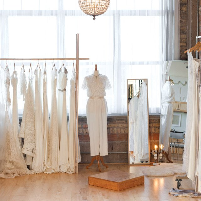 Wedding dress at The White Room in Minneapolis, Minnesota
