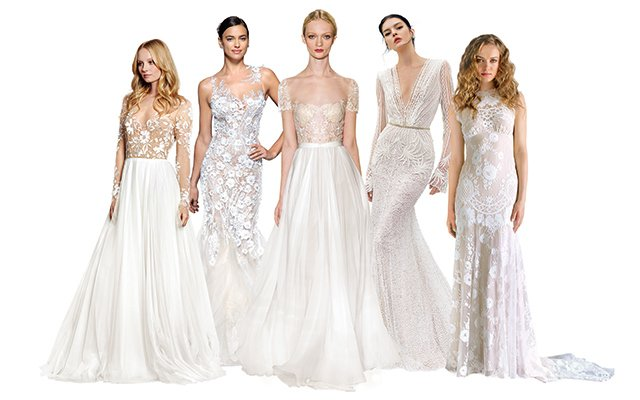 Five wedding dresses that are sheer style