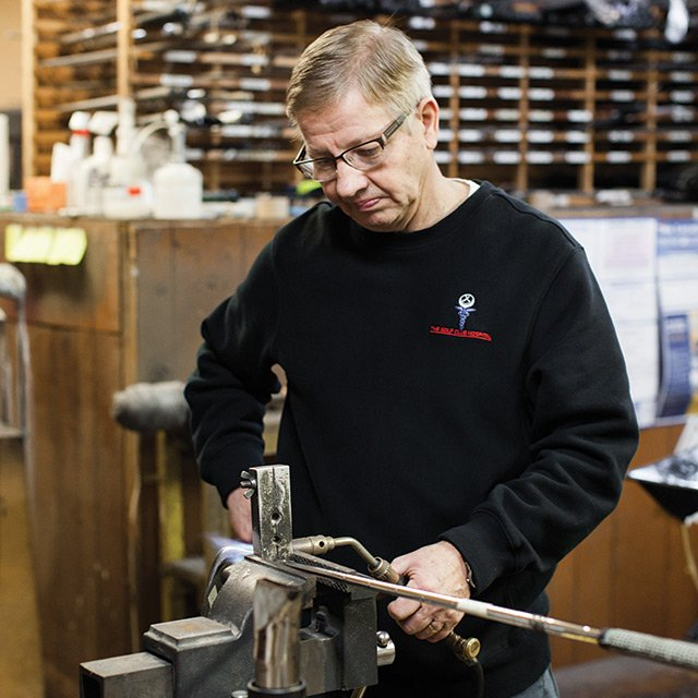 Stan Steuter, one of the country's leading golf club repair and restore men