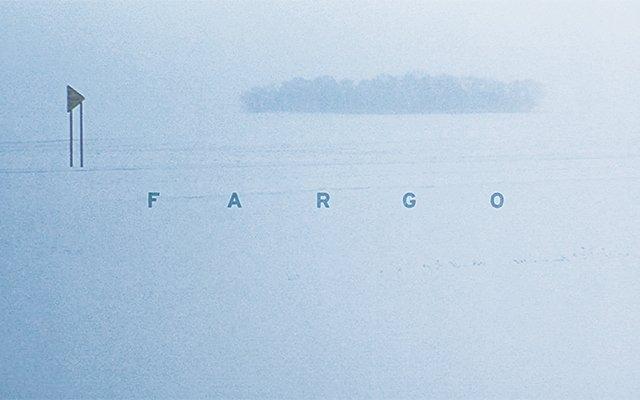 A deserted snowy scene from movie Fargo