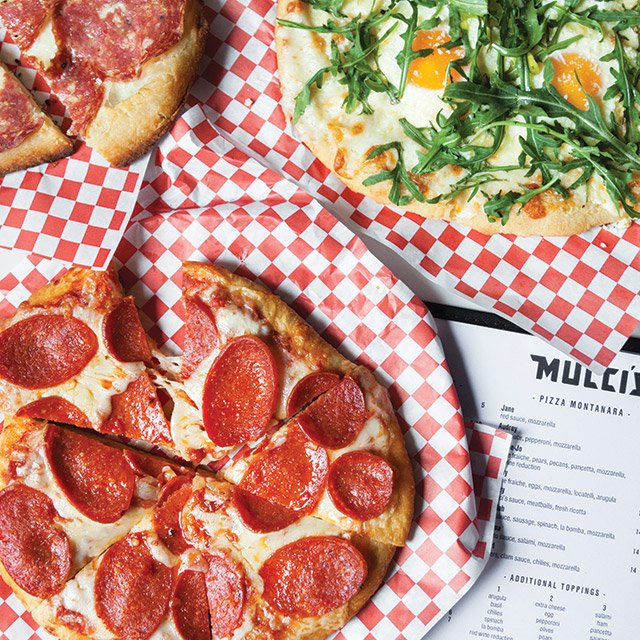 Pizzas from Mucci's in St. Paul, Minnesota