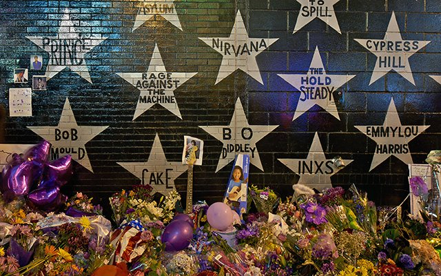 Prince's star at First Avenue