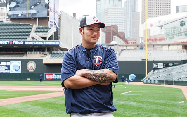 Minnesota Twins baseball player Byung Ho Park