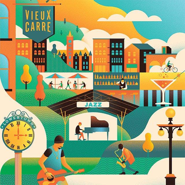 The Twin Cities Jazz Festival illustration