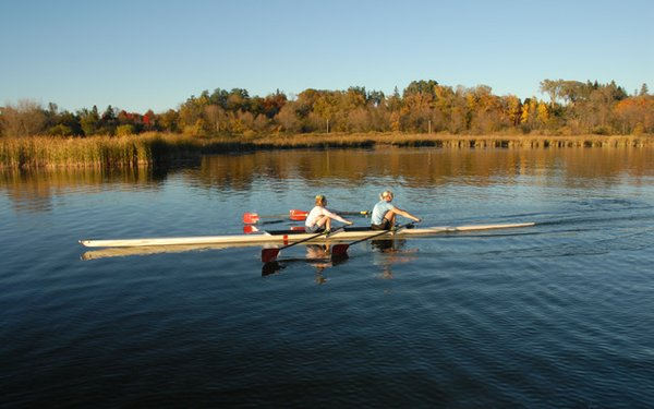 Rowing on Long Lake