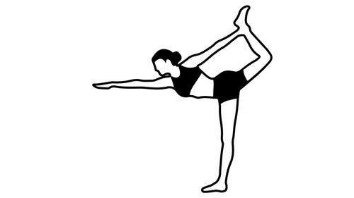 Yoga Pose Illustration