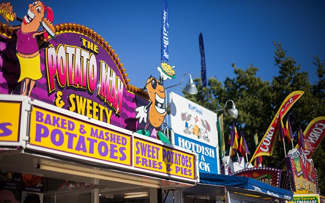Minnesota State Fair food stand signs