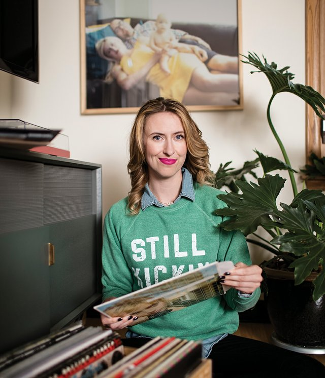 Nora McInerny Purmort with Records.jpg