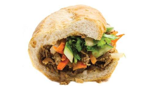 Lu's Sandwiches - grilled por banh mi sandwich