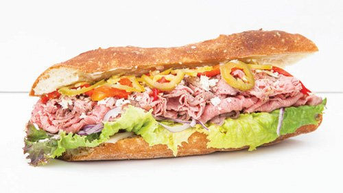 Clancey's Meat - roast beef sandwich