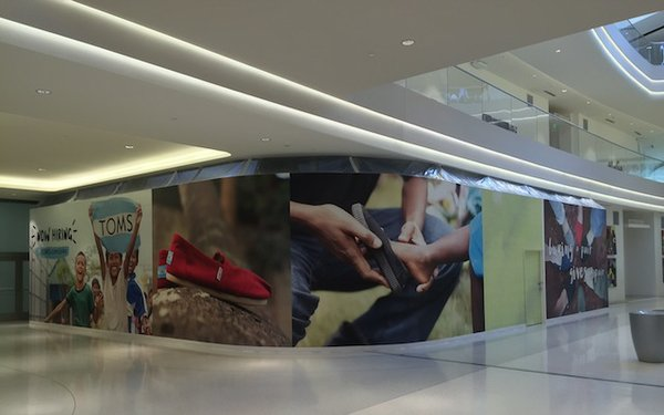 The TOMS store space opening at Mall of America