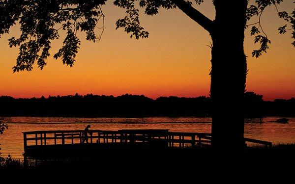 Sunset over Lake Josephine in Arden Hills