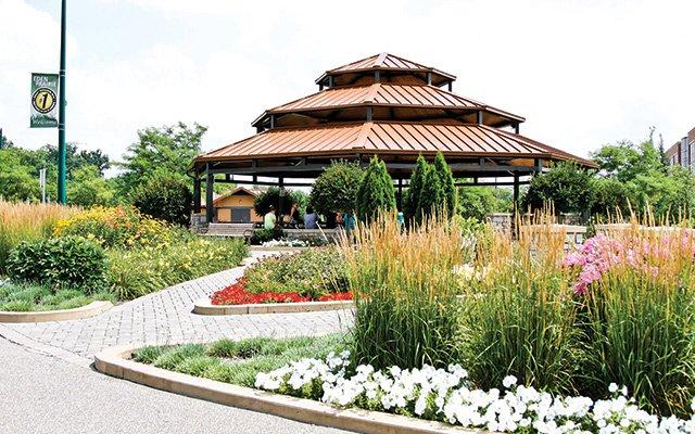 Pavilion at Purgatory Creek Park in Eden Prairie