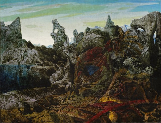 Max Ernst, Landscape with Lake and Chimeras.jpg