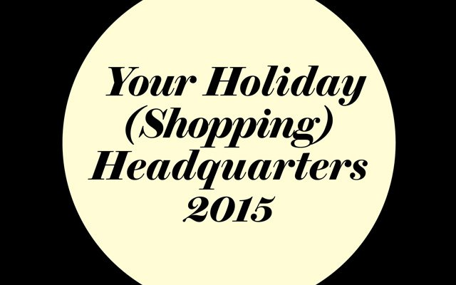 Holiday shopping headquarters