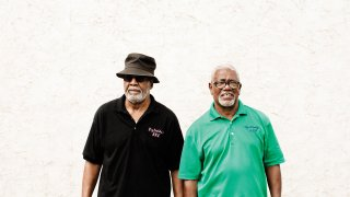 Ron Whyte and Bob Edmond, owners of Big Daddy's Old Fashinoed Barbeque