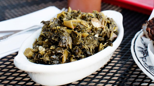 Collard Greens at C&G's Smoking Barbecue