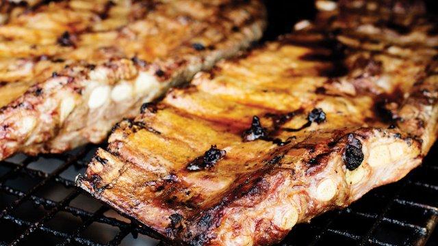 Pork ribs at The Rib Cage