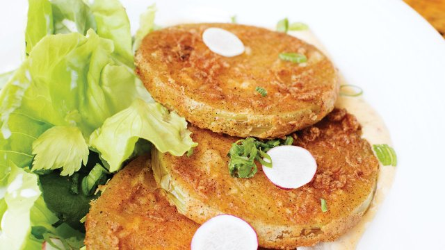 Fried green tomatoes at Revival